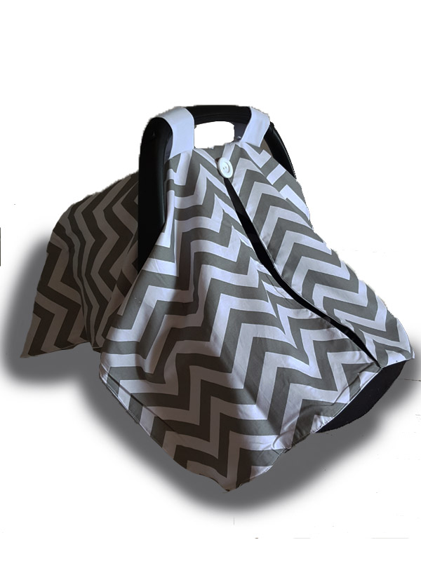Car seat cover - Cotton Grey Chevron.jpg